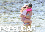Gerri Halliwell hit the beach in Australia with her daughter, Bluebell, on Saturday.