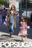 Katie Holmes and Suri Cruise went to get manicures together in NYC.