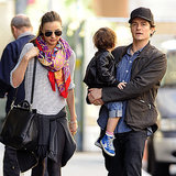 Miranda Kerr, Orlando Bloom and Flynn Walking in NYC