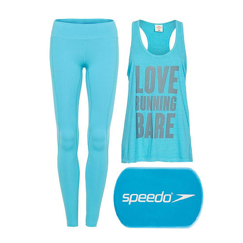 Bright Blue Gym Clothes and Sky Blue Gym Clothes