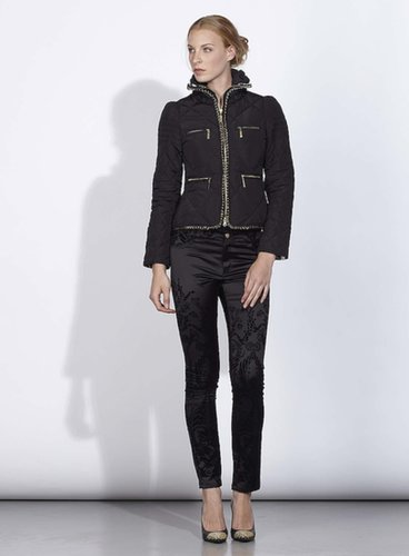 JUST CAVALLI Black Chain Insert Quilted Jacket (FREE SHIPPING)