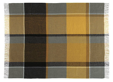 This alpaca plaid throw ($159) is just the sort of thing that Holden Caulfield probably had in his dorm room. We love the color combo and the lone dark stripe down one side.