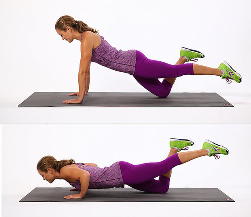 Core: One-Legged Push-Up