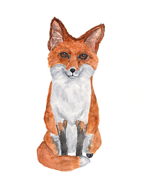 Between its pumpkin-hued coat and cute face, this fox watercolor painting ($20) will melt your heart.