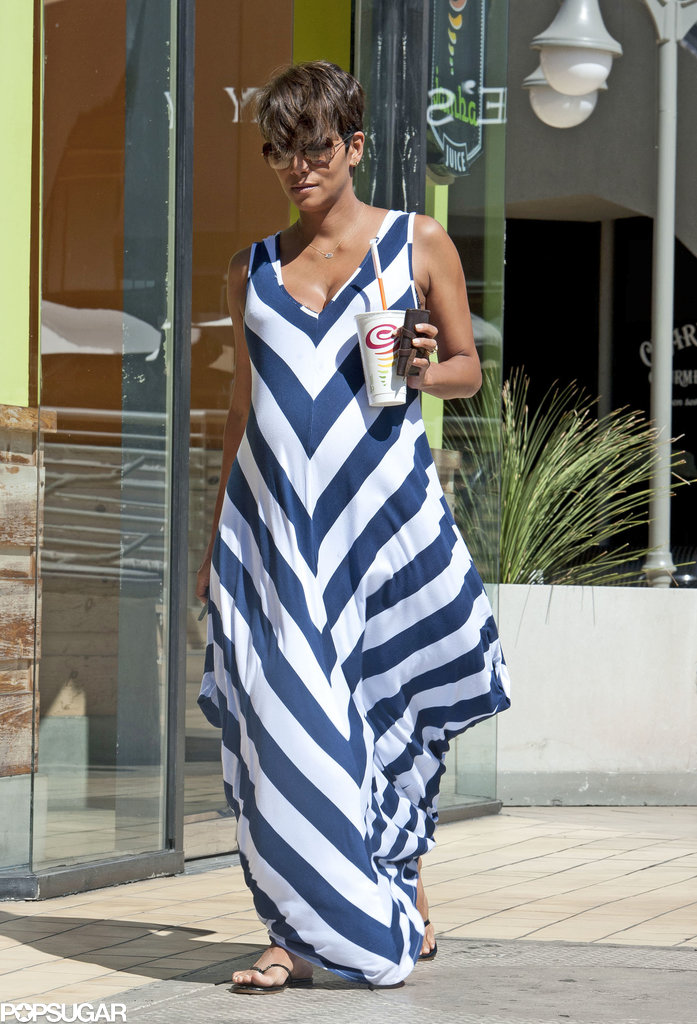 Halle Berry stopped at Jamba Juice for a smoothie in LA.