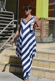 Halle Berry wore a striped dress by Hatch Collection.
