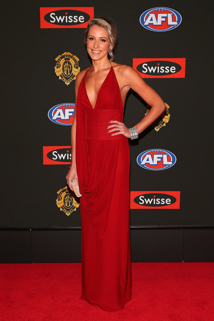 Brooke Kennedy the partner of  Trent Cotchin of the Tigers.