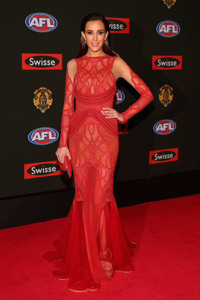 Rebecca Judd the wife of Chris Judd of the Blues.