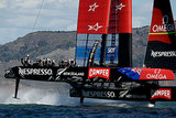 Oracle Team USA sped in the bay in San Francisco for the final race of the America's Cup finals.