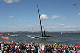 Crowds cheered as Oracle Team USA won the final race.