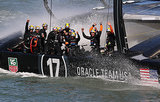 Oracle Team USA beat Emirates Team New Zealand to defend its title in the America's Cup finals.