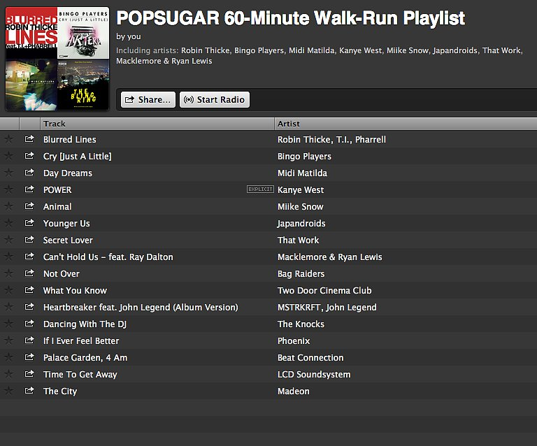 60+ Minute: Walk-Run Playlist