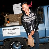 Prabal Gurung sported a Fair Isle and leather topper while toasting Derek Blasberg x Paperless Post.