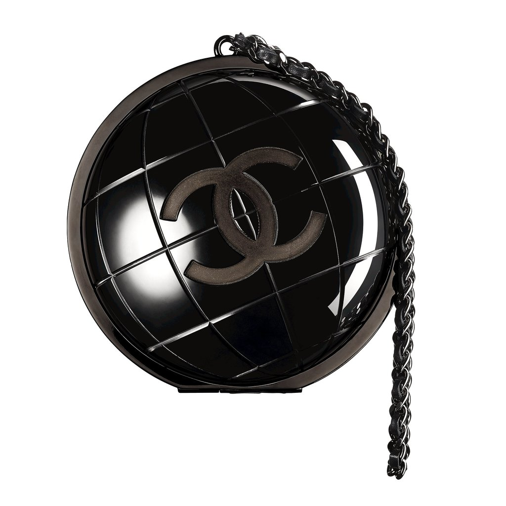 Chanel Black Plexiglass Globe Shape Bag Photo courtesy of Chanel