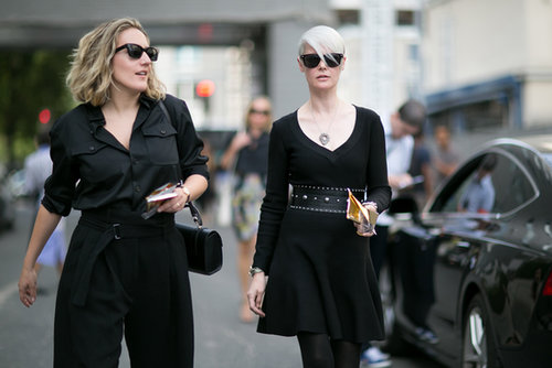 Kate Lanphear (at right) did modern goth.