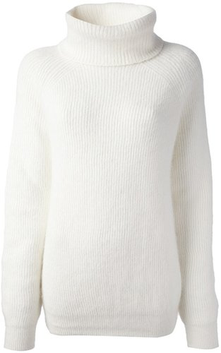 Anthony Vaccarello ribbed high neck sweater