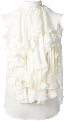 Plein Sud ruffled sleeveless vest