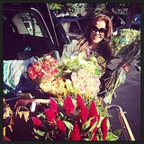 Brooke Burke-Charvet spent her day off buying flowers — lots of flowers. Source: Instagram user brookeburke