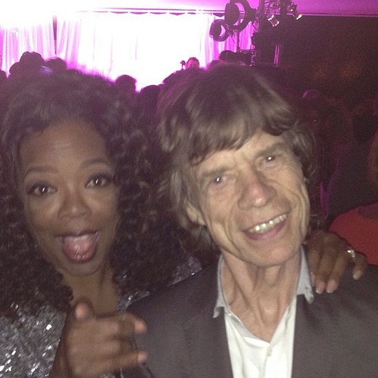 Oprah partied with Mick Jagger. Source: Instagram user oprah