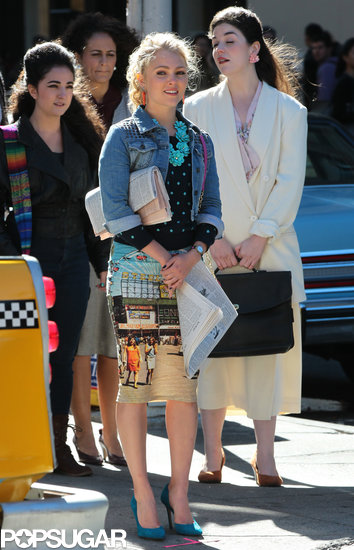 AnnaSophia Robb filmed more NYC scenes for the upcoming season of The Carrie Diaries on Monday.