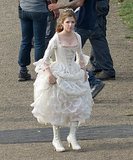 Anna Kendrick was in the United Kingdom on Wednesday filming scenes for Into the Woods.