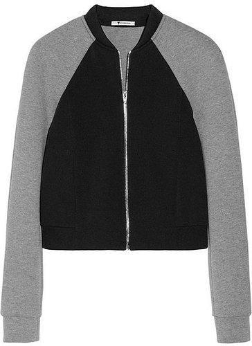 T by Alexander Wang Blouson en néoprène et jersey bicolore