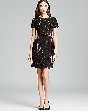 Shoshanna Short Sleeve Neon Tweed Sheath Dress - Ayala