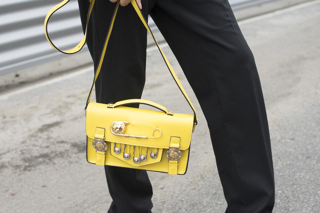 A sunny bag with a tough-girl finish.