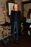 A denim-clad Jessica Joffe joined Elle and J Brand at their West Hollywood dinner.