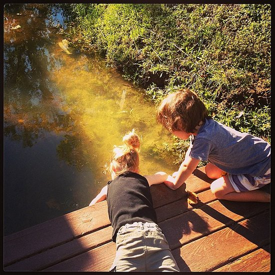 Harper Smith watched the fish with her cousin while vacationing in Houston. Source: Instagram user tathiessen
