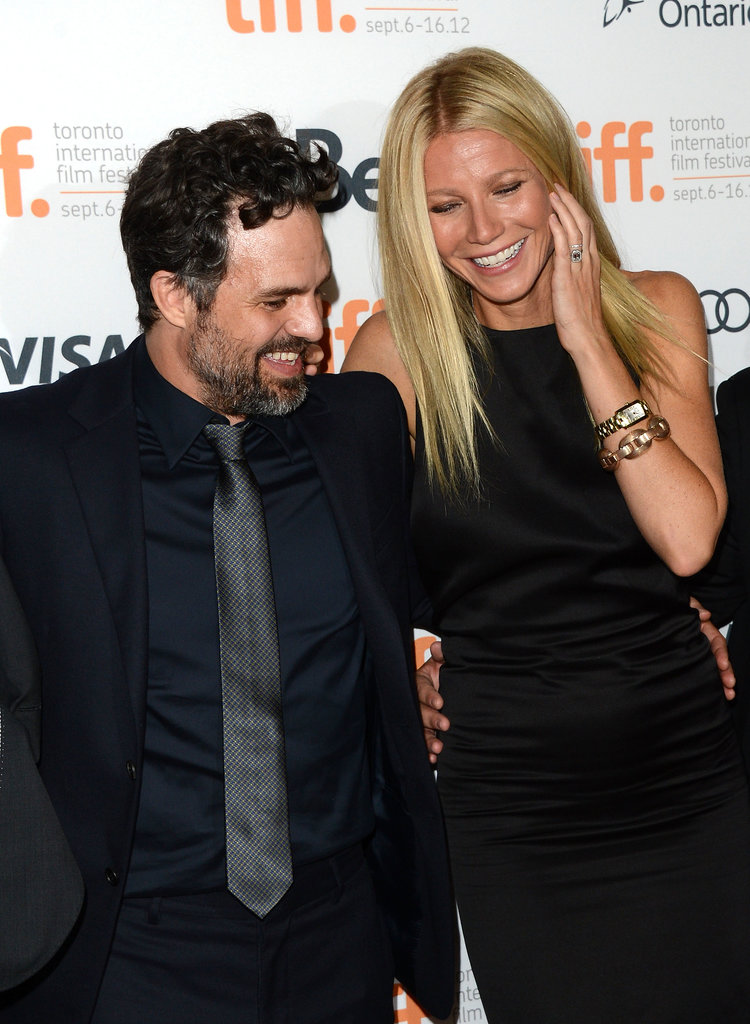 Gwyneth Paltrow and her Thanks For Sharing costar Mark Ruffalo hit the red carpet to premiere the film together at the Toronto International Film Festival in September 2012.