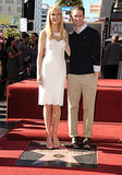 Gwyneth Paltrow's Glee costar Matthew Morrison was on hand to help celebrate her Hollywood Walk of Fame star ceremony in December 2010.