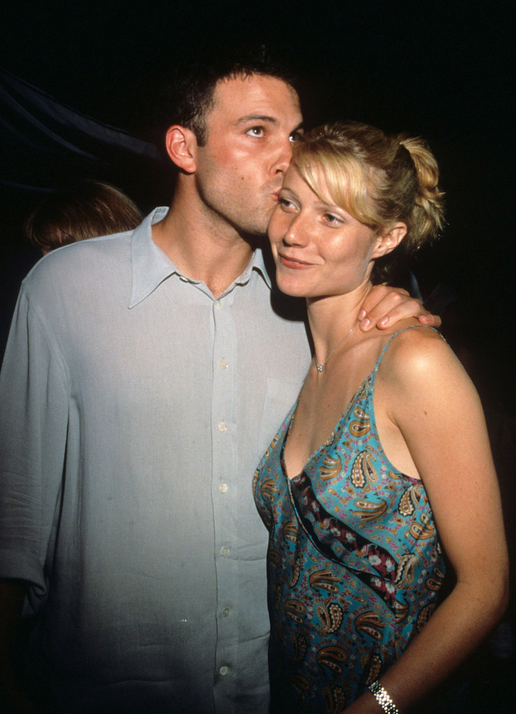 Gwyneth Paltrow got a sweet kiss on the forehead from her then-boyfriend Ben Affleck at the Armageddon premiere in July 1998.