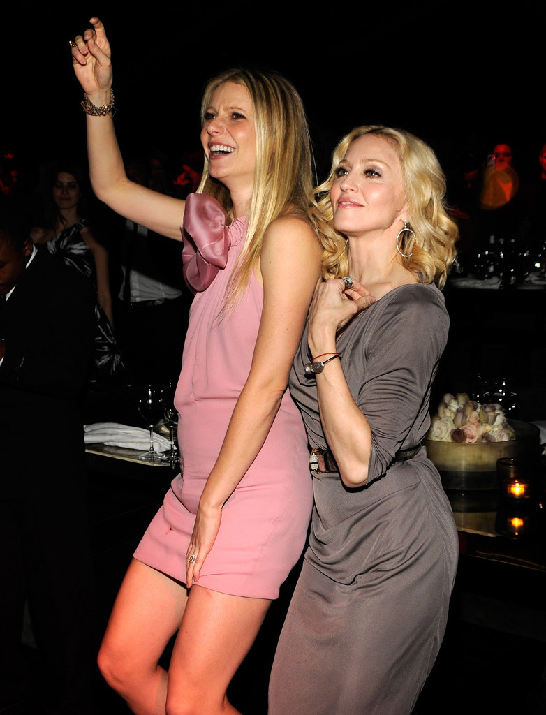 They may not be close anymore, but Gwyneth Paltrow and Madonna were as friendly as ever as they hit the dance floor together during Madonna and Gucci's UNICEF benefit concert in February 2008.