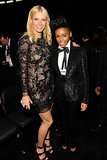 Gwyneth Paltrow met up with Janelle Monae in the audience at the Grammys in February 2011.