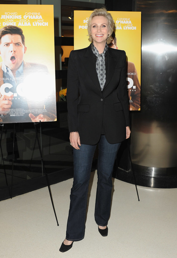 Jane Lynch dropped by the premiere.