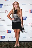 Harley Viera-Newton took the Dream Ball carpet in a graphic black and white design.