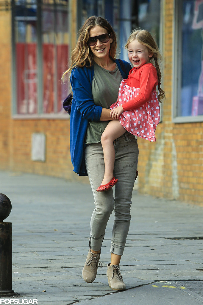 Sarah Jessica Parker wore Toms wedges.
