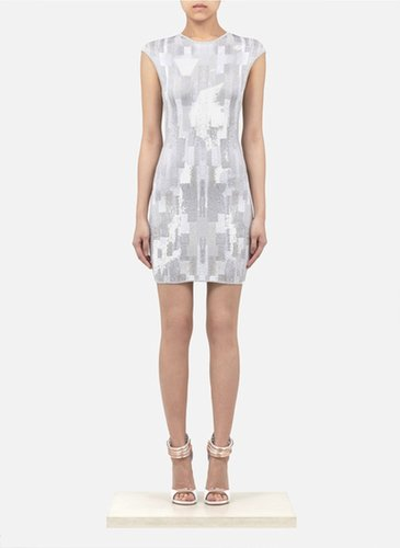Patterned Stretch Knitted Dress (On Sale)