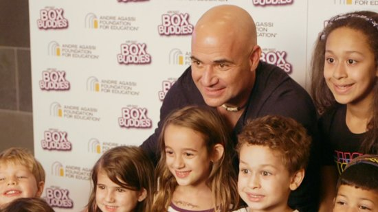 Match Point! Andre Agassi Serves Up Healthy Snacks For Kids