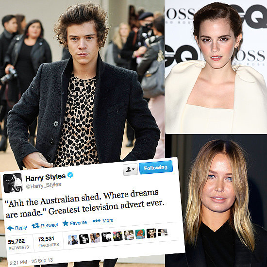 Celebrity Tweets of the Week: Harry Styles, Emma Watson, Lara Bingle & More!