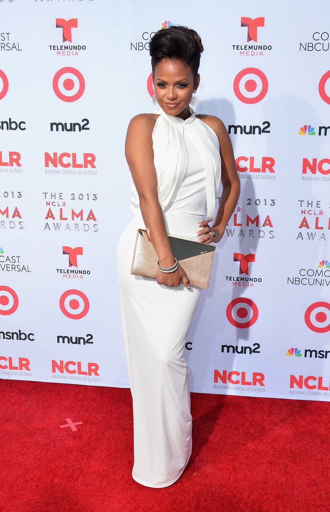 Christina Milian was a vision in white on the red carpet.