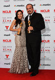 Dexter costars Aimee Garcia and David Zayas proudly showed off their awards.