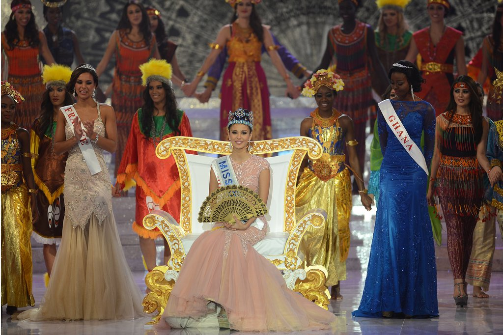 Megan Young took the place of honor when she was announced as the winner of Miss World 2013.