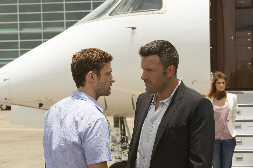 Ben Affleck, Justin Timberlake, and Gemma Arterton in Runner Runner.