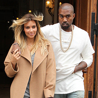 Blonde Kim Kardashian And Kanye Weat Hold Hands In Paris
