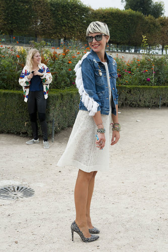 Elisa Nalin gave us denim jacket envy.