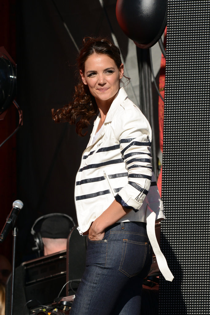 Katie Holmes was all smiles at the event in Central Park.