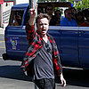 Aaron Paul Walking With His Wife Lauren in LA