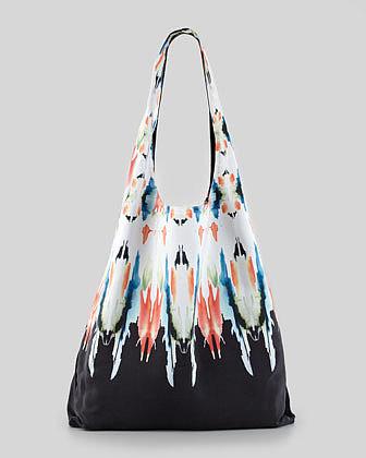 12th Street by Cynthia Vincent Watercolor Border Shopper Bag